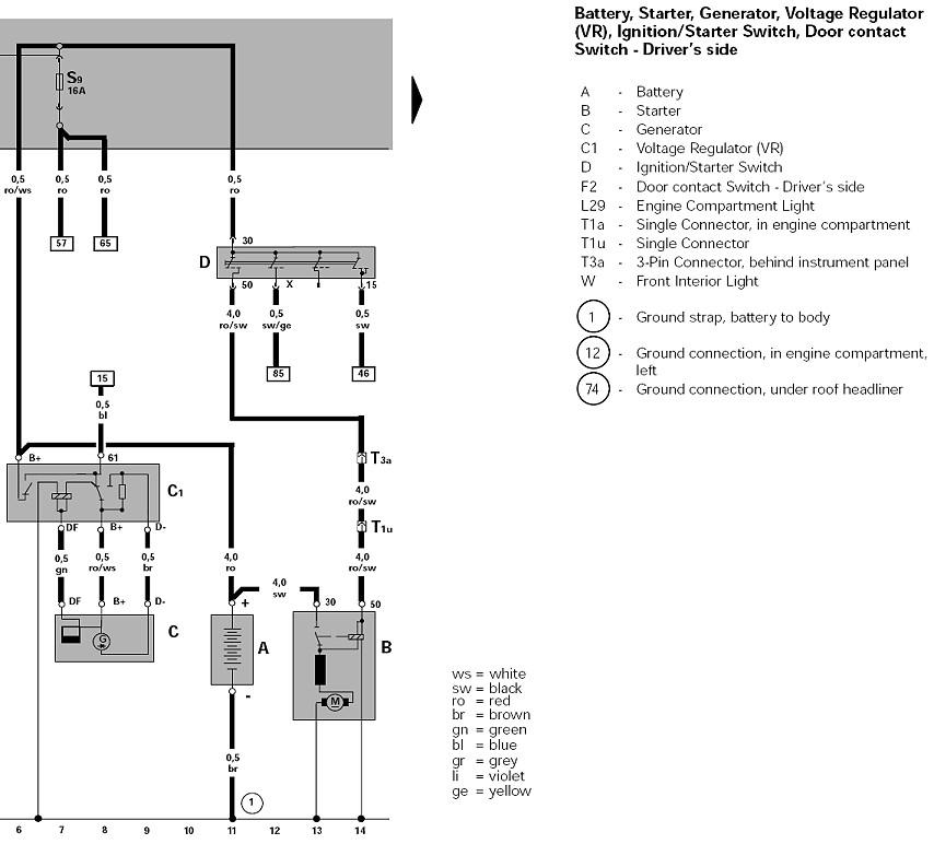 Tolle Vw Starter Schaltplan Bilder - Elektrische Schaltplan-Ideen ...